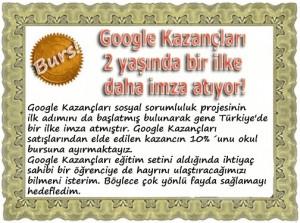 google kazanclari 300x223 Google Kazançları Çok kazandırıyor ki Burs Veriyor !